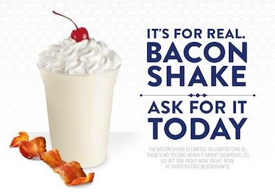 The Not So Real Bacon Shake from Jack-in-the-Box