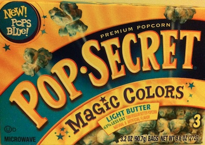 Blue Popcorn. Really? [Inside the Label]