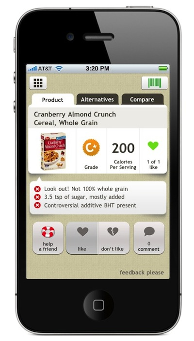 Check Out the New Fooducate iPhone App !