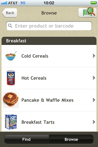 Fooducate iPhone App v 1.6: Browse Top Rating Products