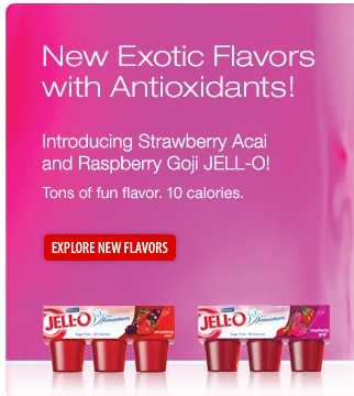 Inside The Label – Jell-O Strawberry Acai / Raspberry Goji Sugar Free Gelatin with Antioxidants