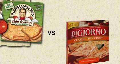 Four Cheese Pizza – DiGiorno's vs. Newman's Own