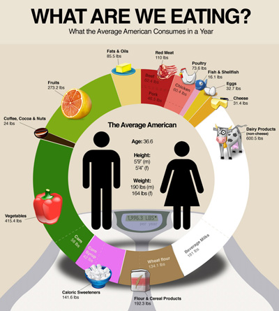 Awesome Graphic – Our Annual Food Consumption by Category