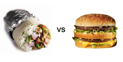 FOODFIGHT: Is a McDonald's Big Mac Healthier Than a Chipotle Burrito?