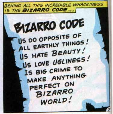 """Less Bad"" is ""Good"" in Bizarro World"