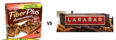 Comparing Kellogg's Fiber Plus Bar to LaraBar [Inside the Label]