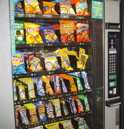 New: Calorie Labels on Snack Vending Machines