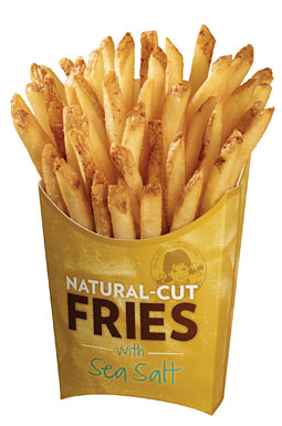 "Wendy's ""Natural Cut"" Fries. Indeed?"
