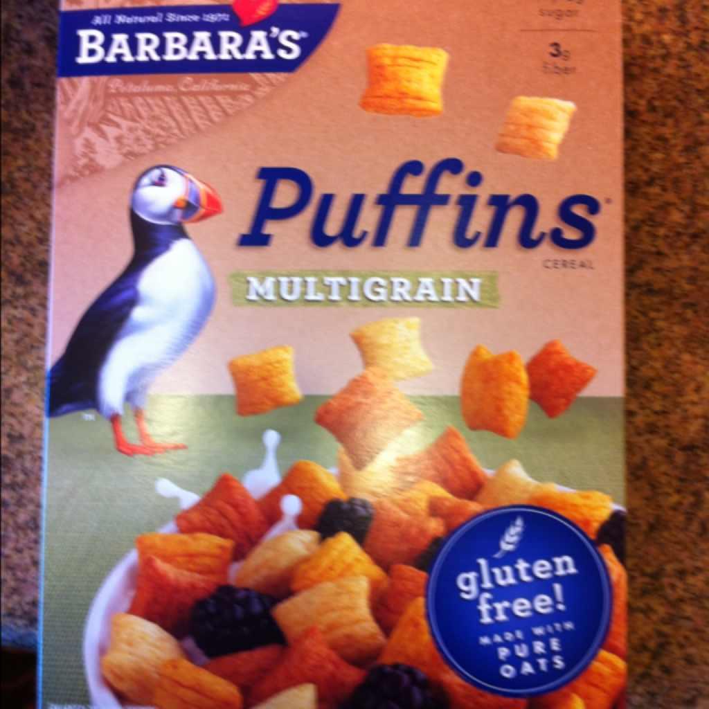 BARBARA'S Puffins, Multigrain Cereal: Calories, Nutrition