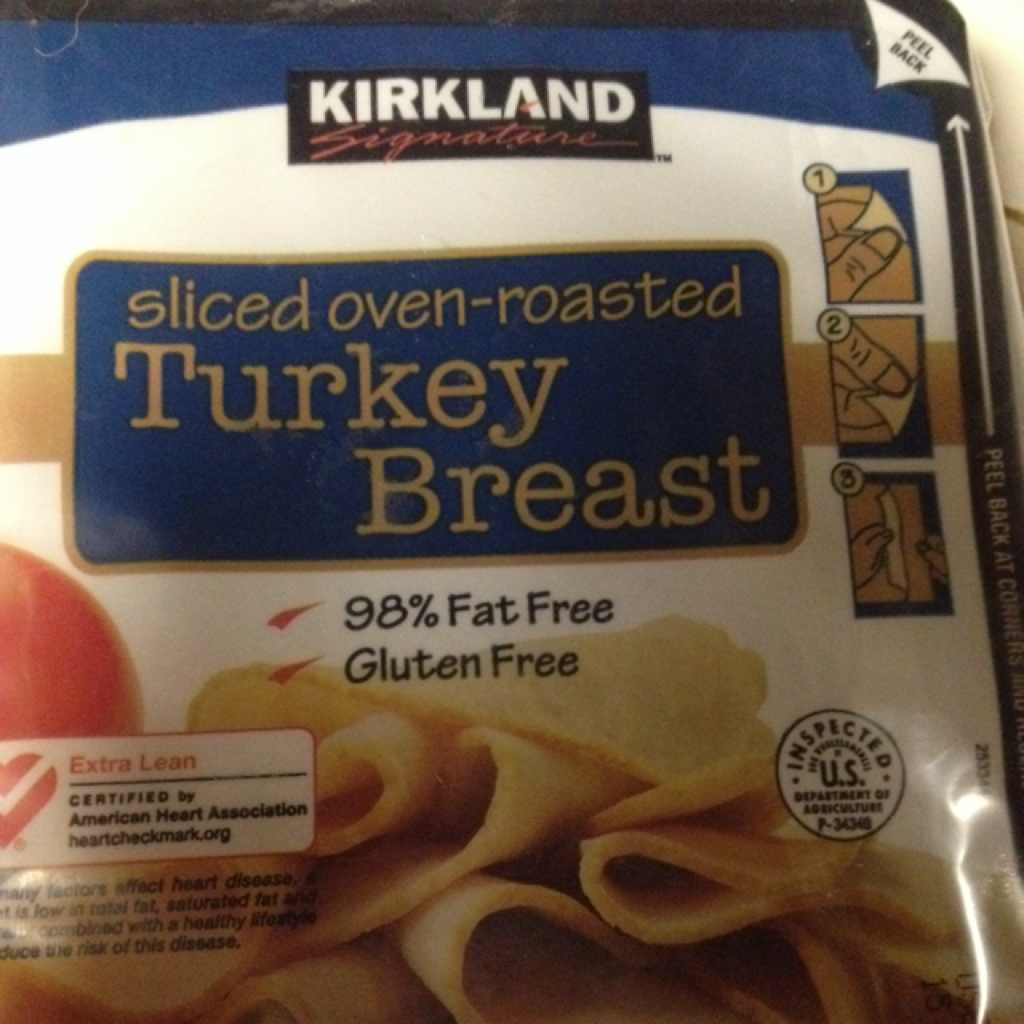 Kirkland Signature Turkey Breast Sliced Oven Roasted Calories Nutrition Analysis More Fooducate