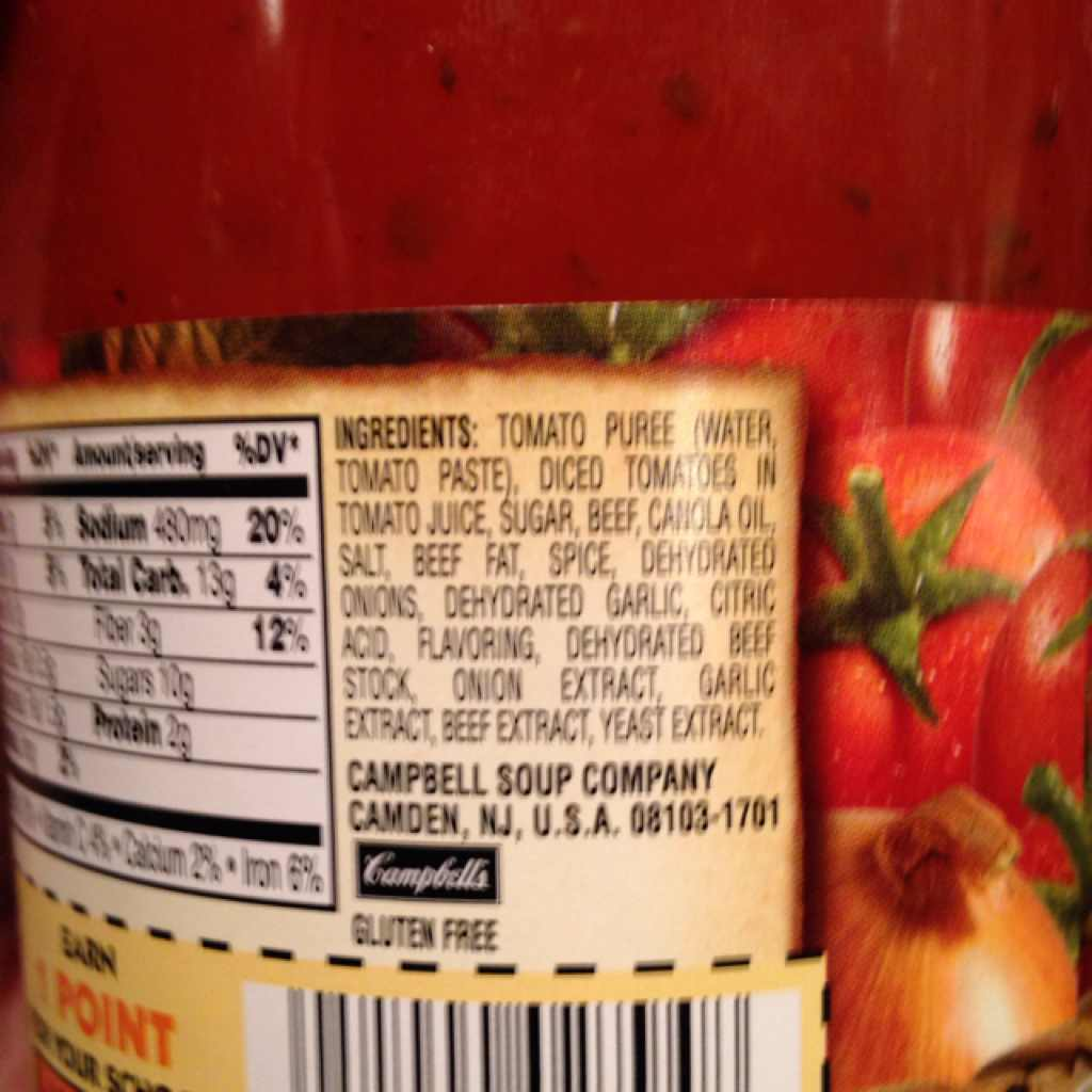 Prego Italian Sauce Flavored With Meat Calories