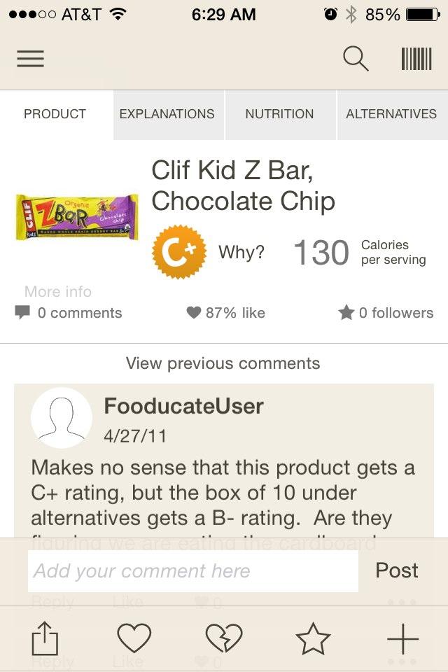 CLIF BAR Kid Z Bar, Chocolate Chip