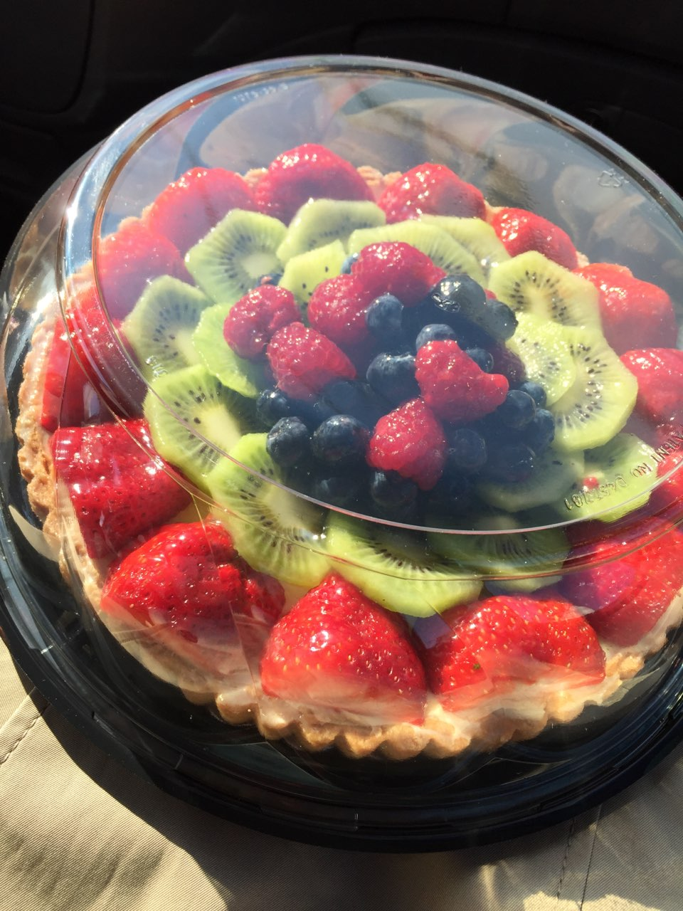 Marvelous Fruit Tart For My Birthday Instead Of A Cake Fooducate Diet Personalised Birthday Cards Akebfashionlily Jamesorg