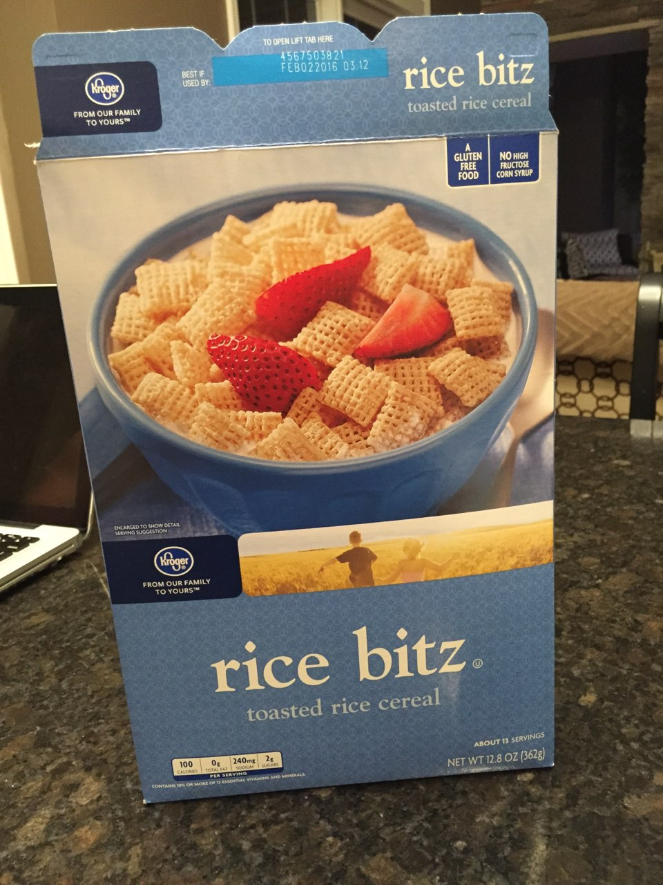 Calories in rice cereal