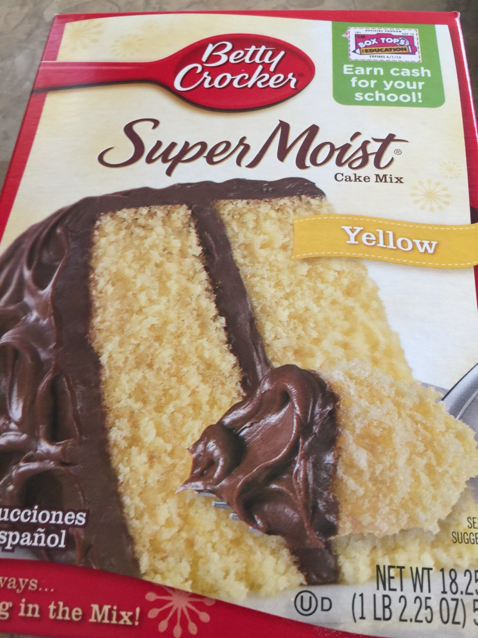 Betty Crocker Cake Mix Yellow Calories Nutrition