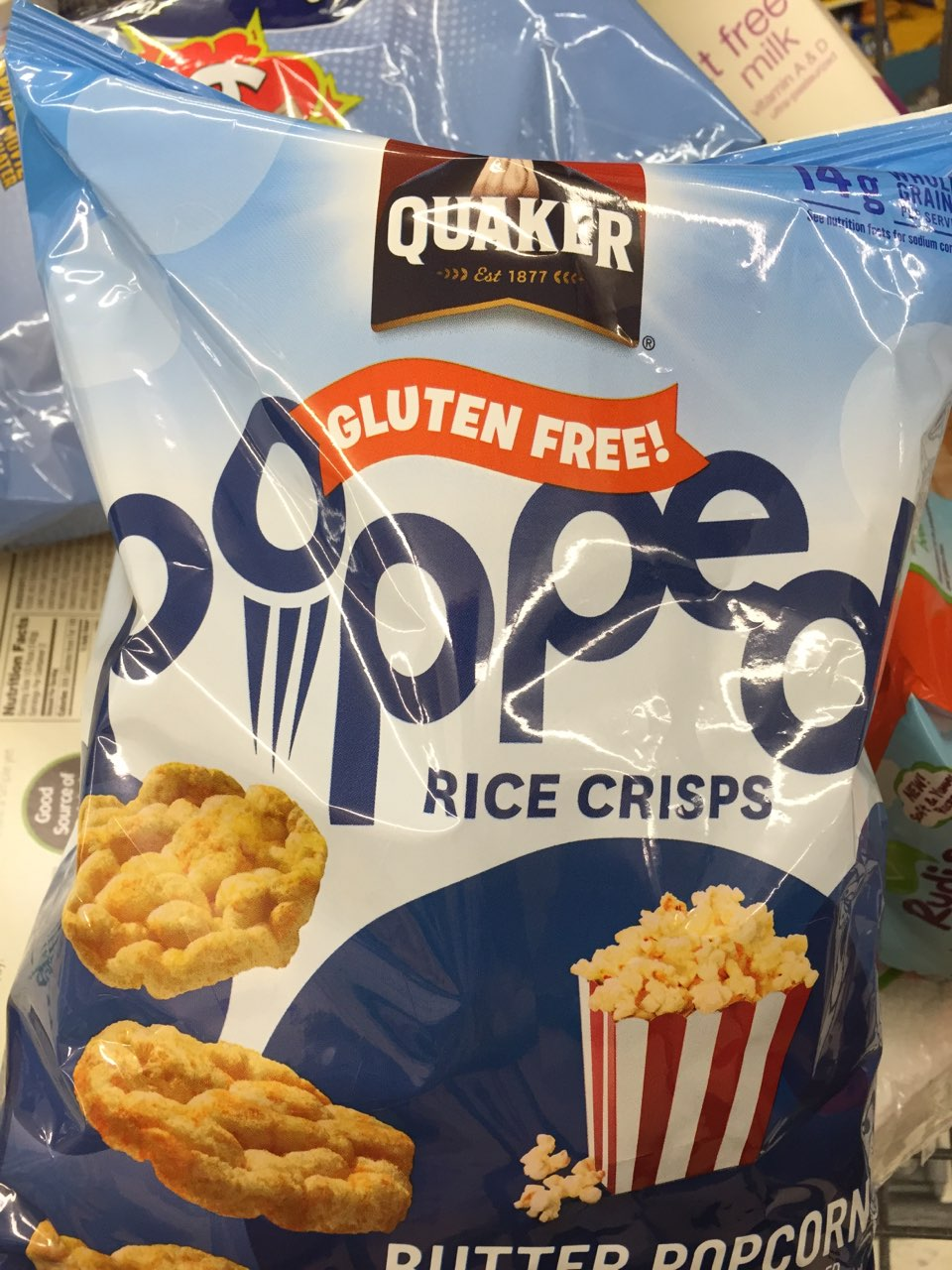 Quaker Popped Butter Popcorn Rice Cakes Nutrition
