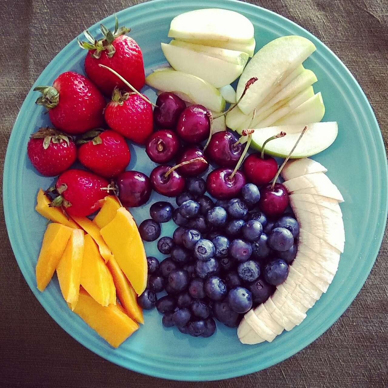 Morning Breakfast Fruit Platter Fooducate Diet Motivation