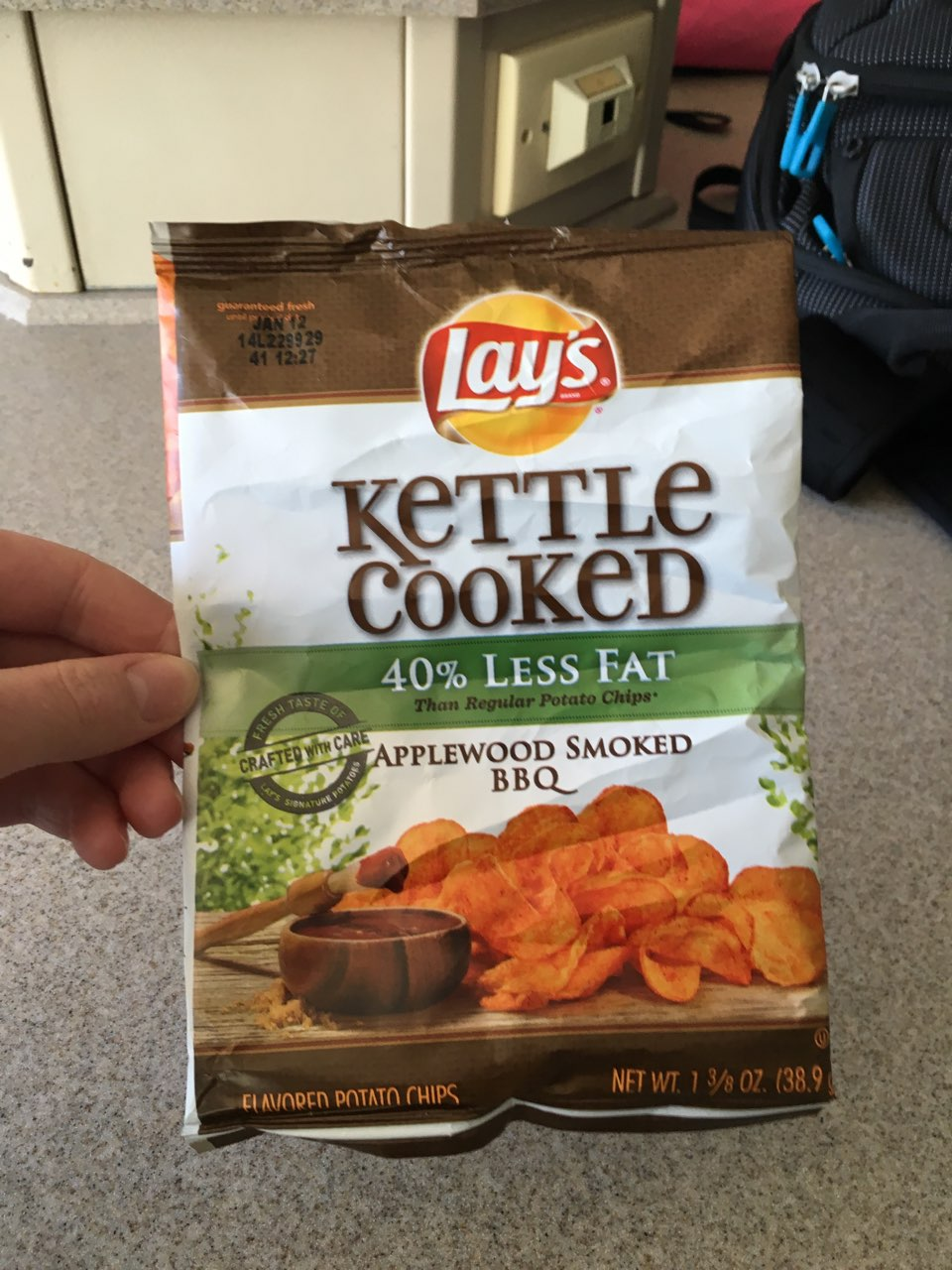 Lay S Potato Chips Kettle Cooked Applewood Smoked Bbq