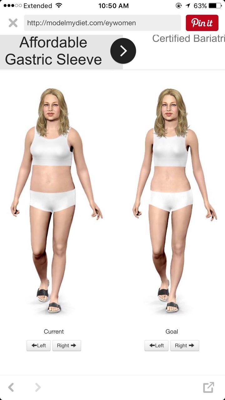 http://modelmydiet com/eywomen simulator that lets you see