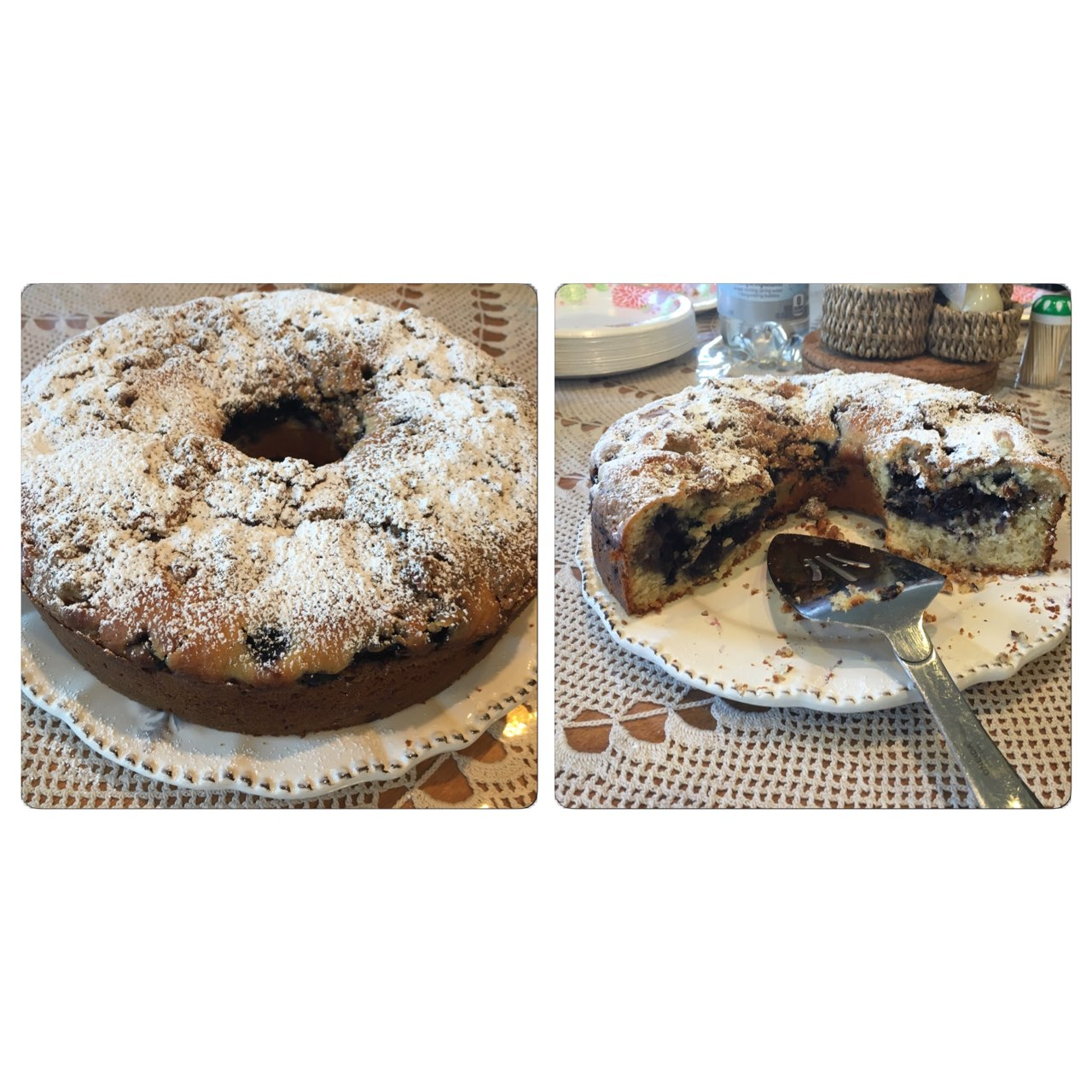Made My Sister Her Favorite Blueberry Pecan Crunch Cake For Her