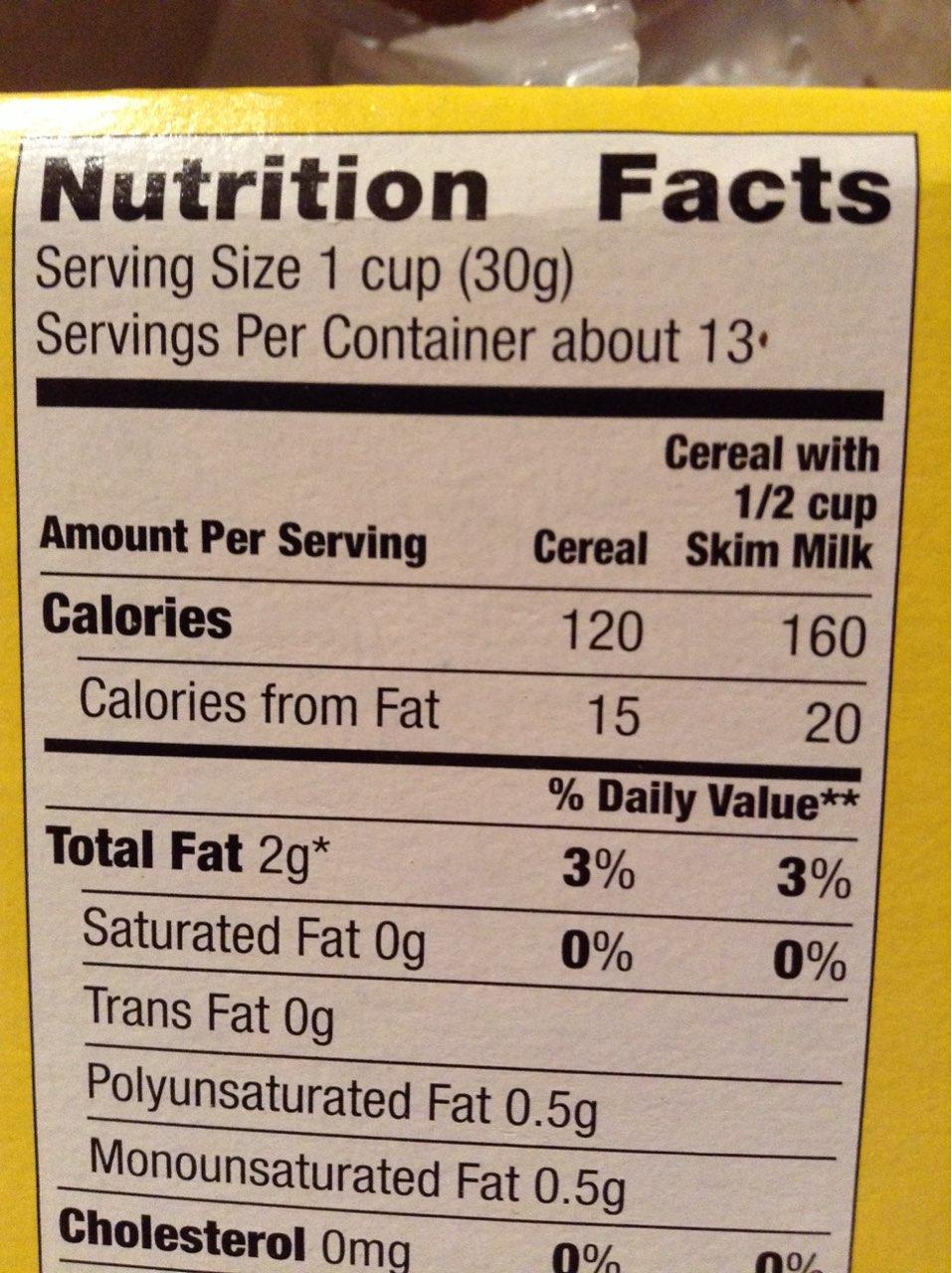 Millville Crispy Oats Whole Grain Oat Cereal Calories Nutrition