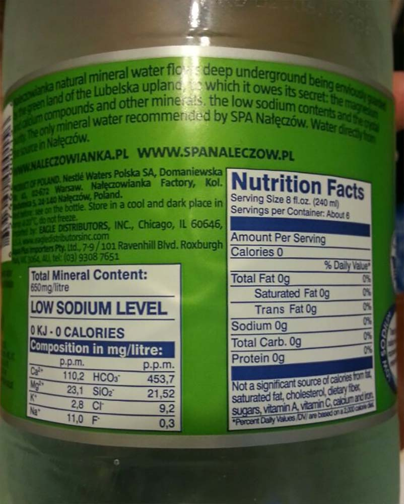 High Levels Of Magnesium In Drinking Water
