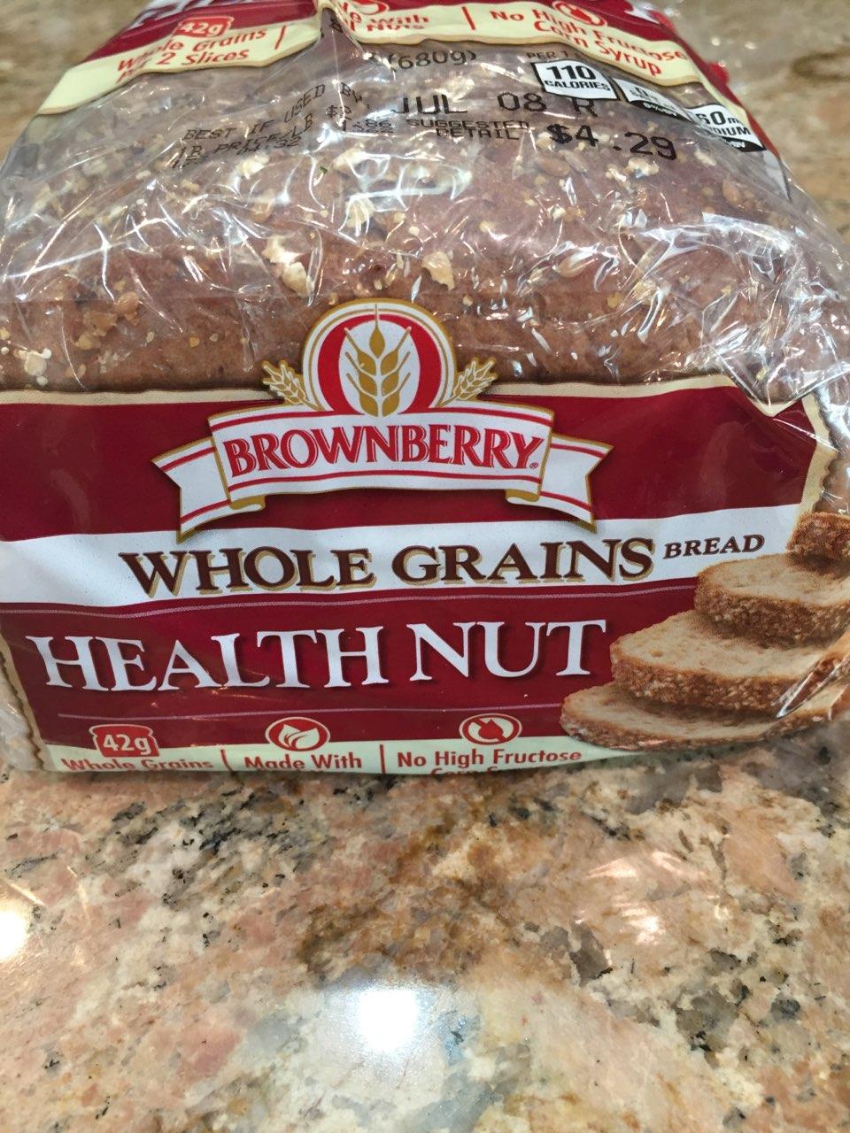 Arnold Whole Grains Health Nut Bread Calories Nutrition