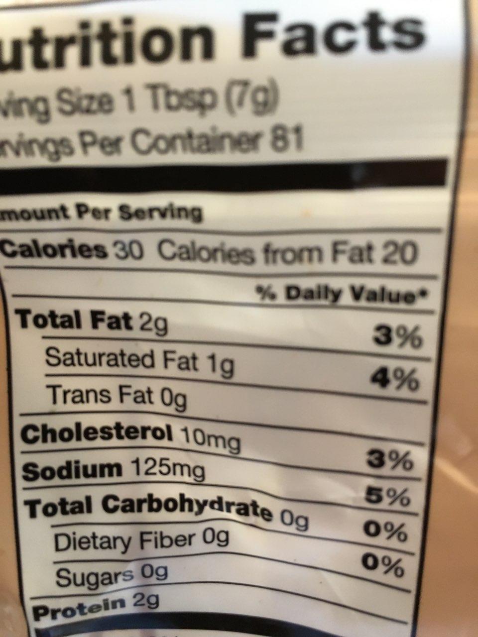 kirkland signature crumbled bacon: calories, nutrition analysis