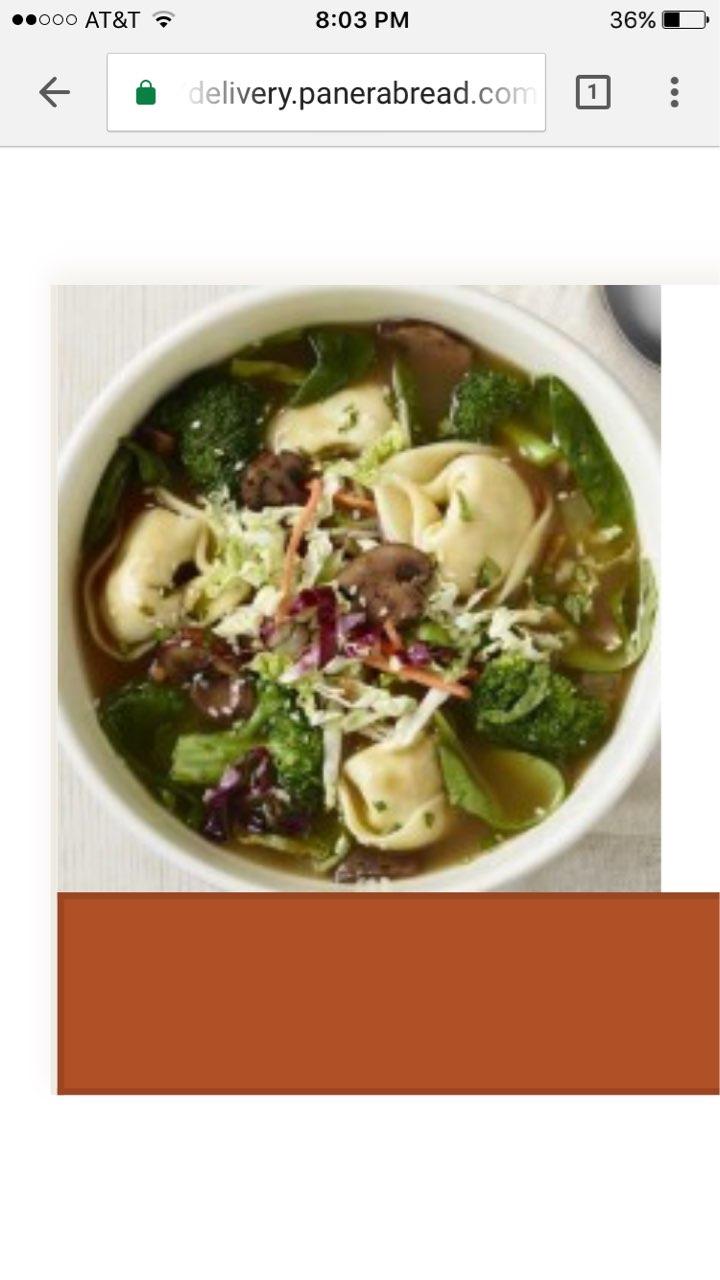 Panera Bread Thai Garden Chicken Wonton Broth Bowl Calories Nutrition Analysis More Fooducate