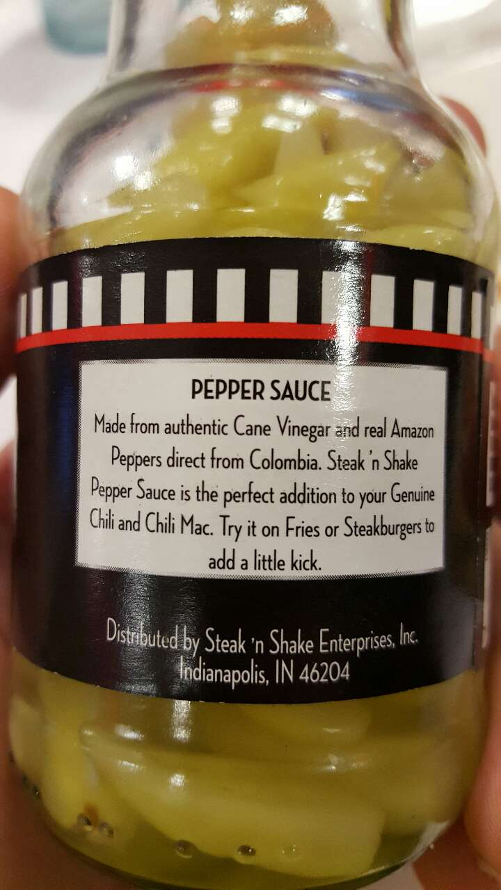 Steak N Shake Pepper Sauce Calories Nutrition Analysis