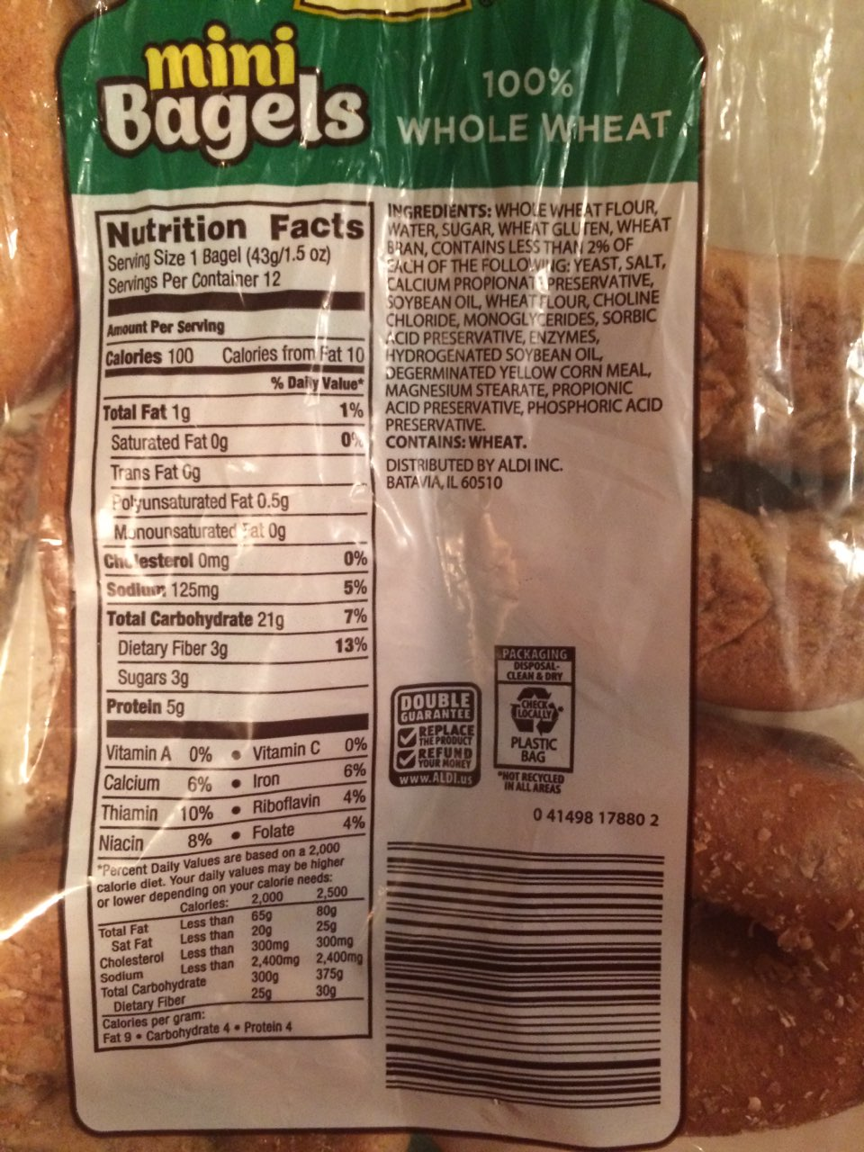 Sprouted Wheat Bagels |Whole Wheat Bagel Nutrition Facts