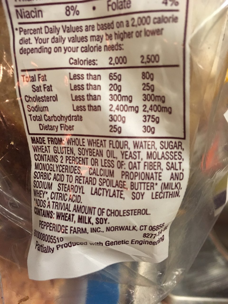 Pepperidge Farm Bread, 100% Whole Wheat