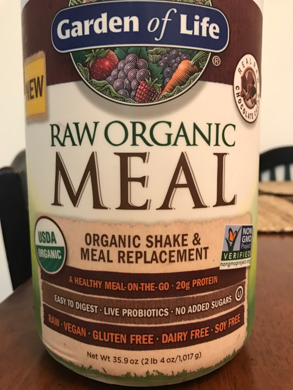 Garden Of Life Organic Raw Meal Replacement Formula Calories Nutrition Analysis More Fooducate