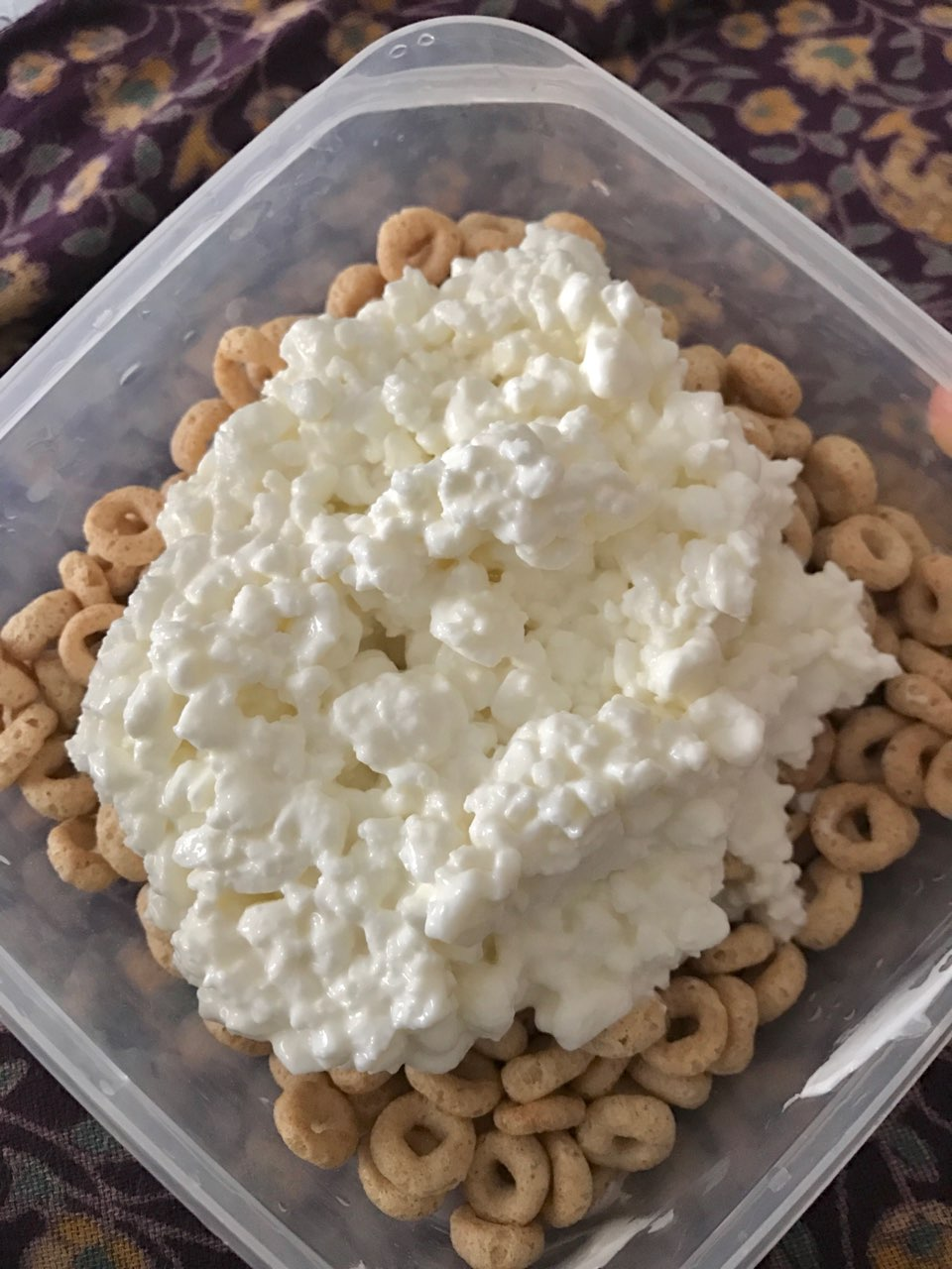 Captivating So Obsessed With Cottage Cheese, I Eat It Every Single Day. 1 Cup No Salt  Added 1%u003d 180 Calories ...u0026 32g Of Protein! 1 Cup Cheeriosu003d 100 C.
