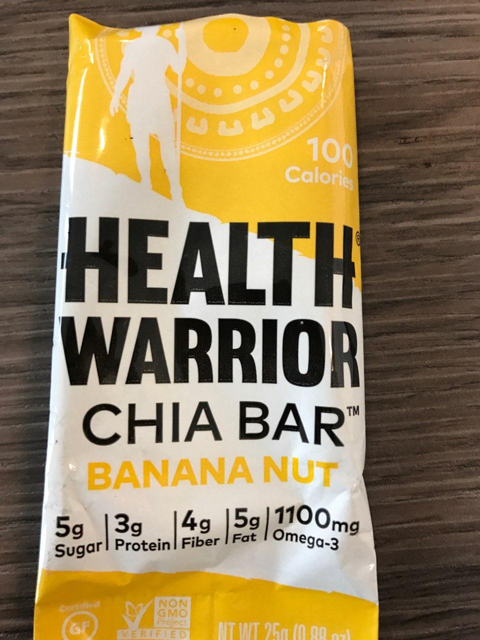Health Warrior Banana Nut Chia Bar Calories Nutrition