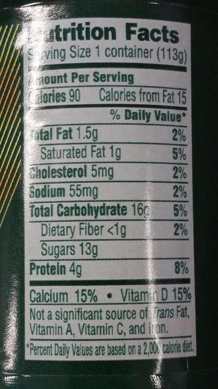 Dannon Activia Yogurt, Low-fat