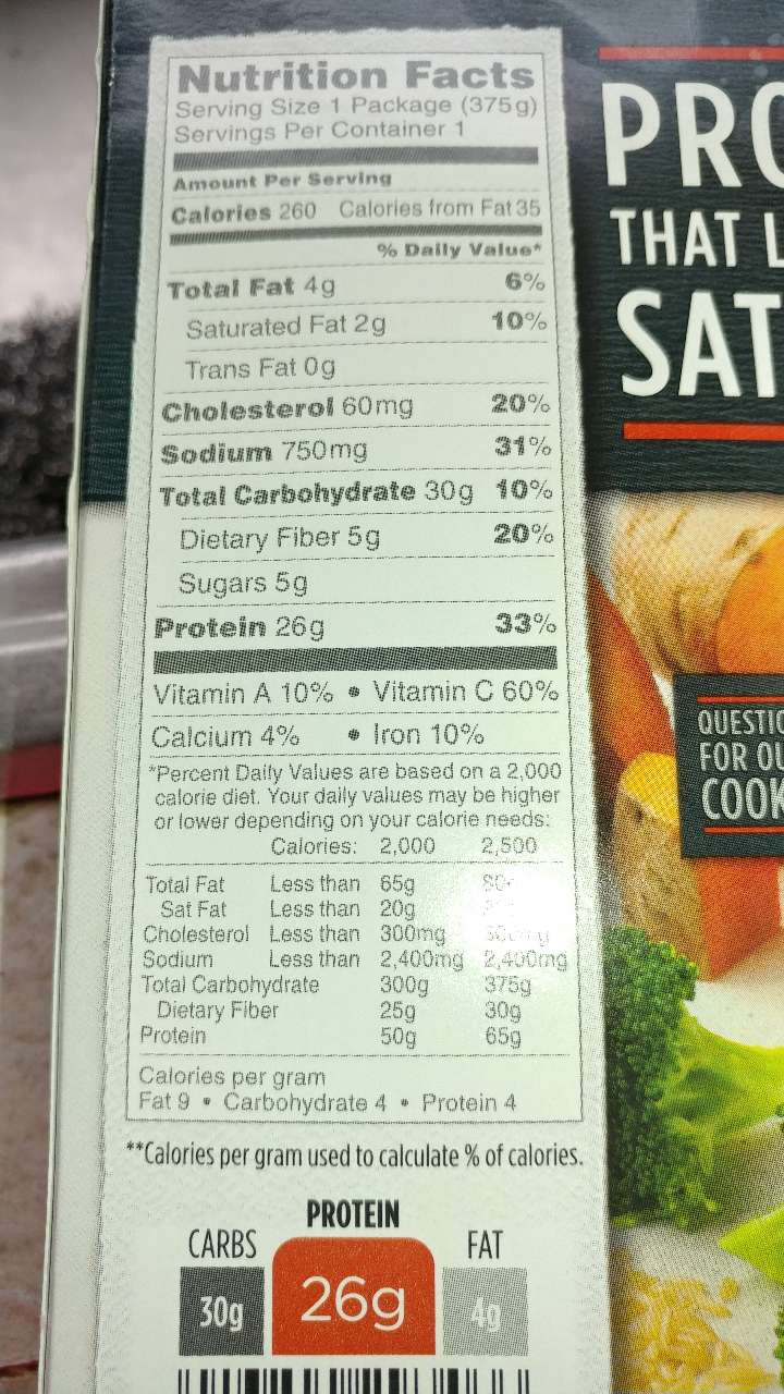 Stouffer S Fit Kitchen Oven Roasted Chicken Calories Nutrition Analysis More Fooducate