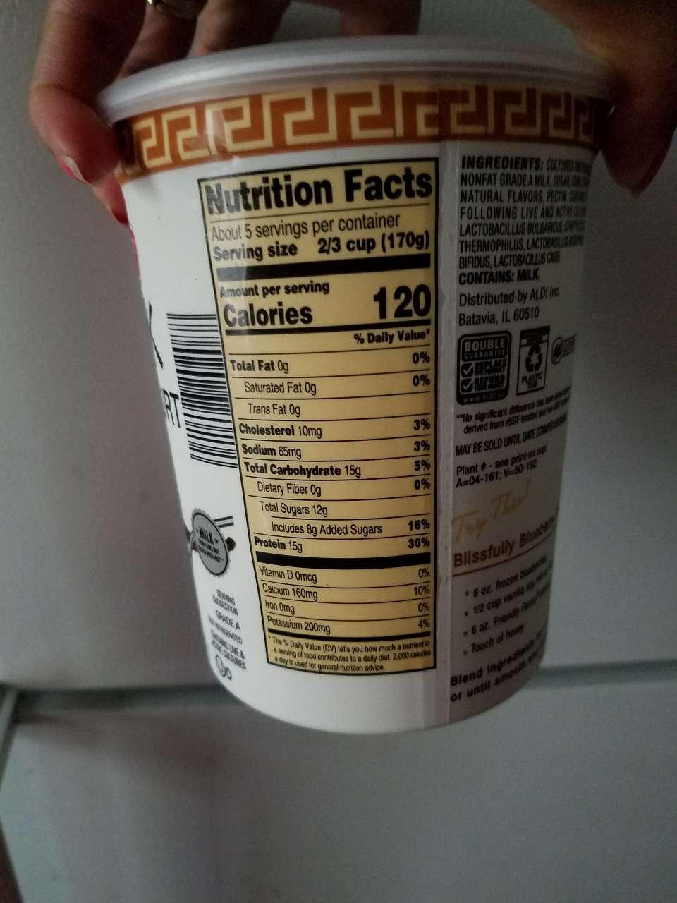 Friendly Farms Greek Nonfat Yogurt Vanilla Calories Nutrition Analysis More Fooducate