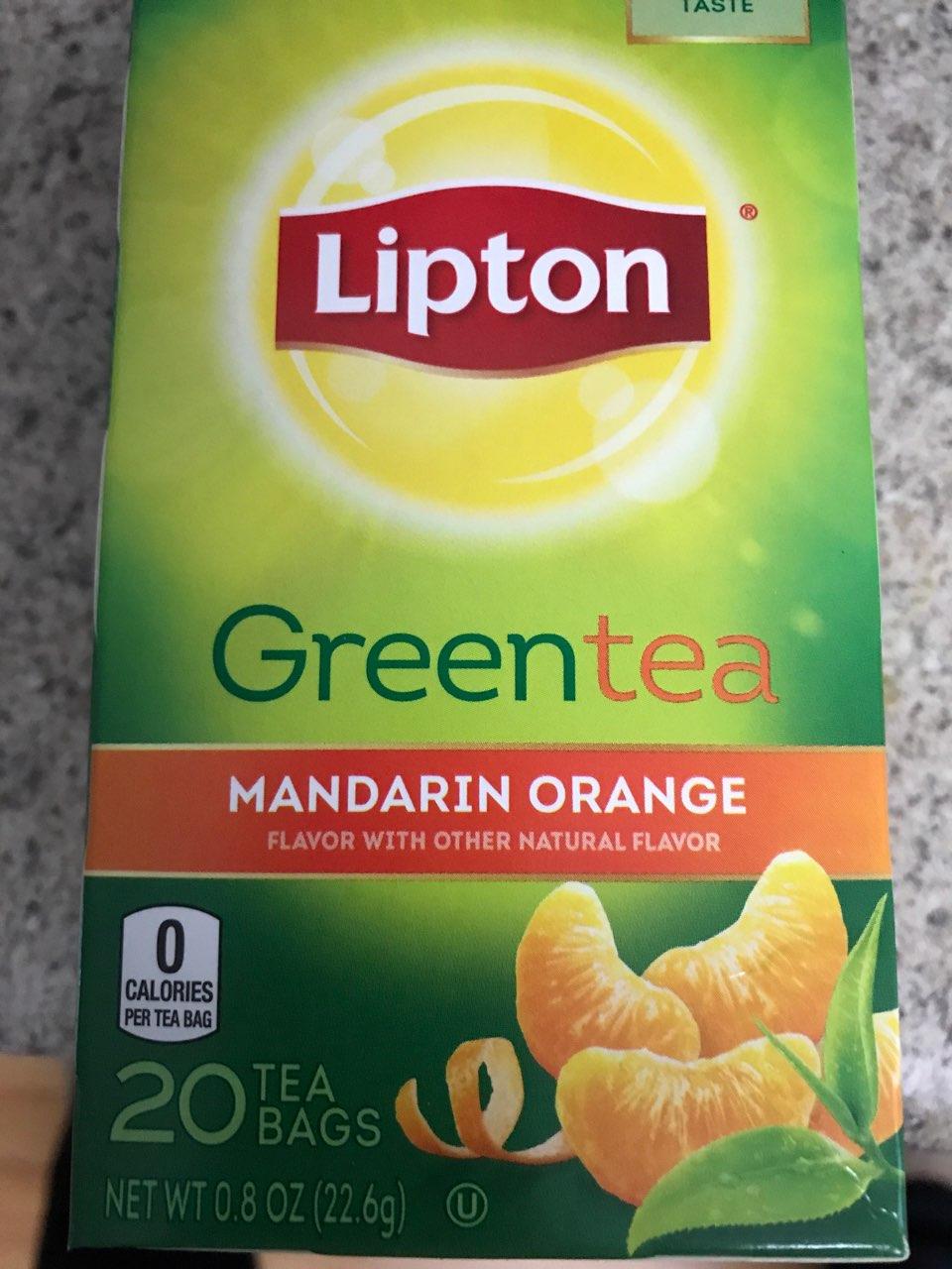 Lipton Green Tea, Mandarin, Orange, 20