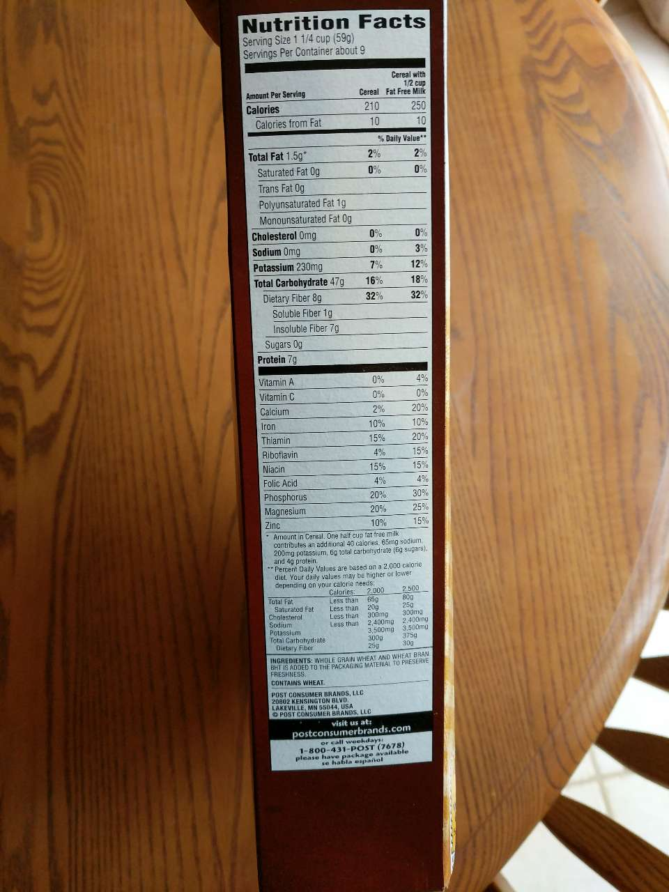 Post Cereal, Shredded Wheat: Calories