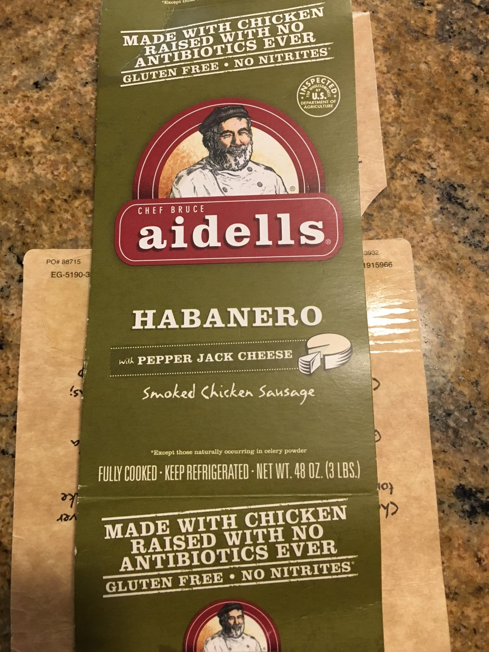 Aidells Habanero With Pepper Jack Cheese Smoked Chicken