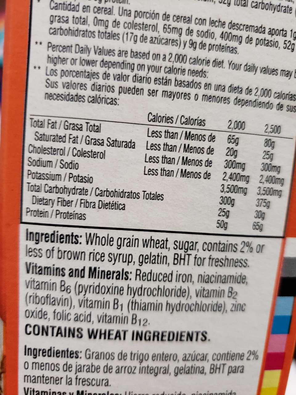 Frosted Mini Wheats, Original: Calories