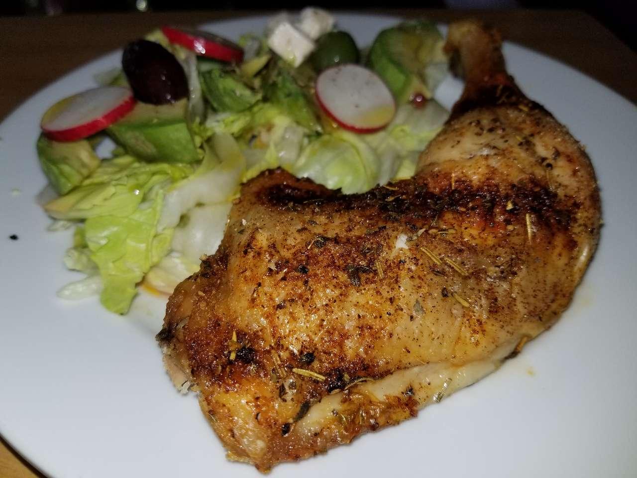 Happy Sunday Quick Simple Dinner Tonightbaked Chicken Leg Quarter