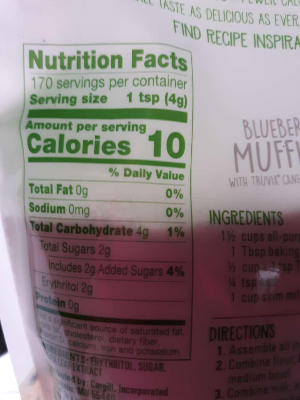Truvia Baking Blend: Calories