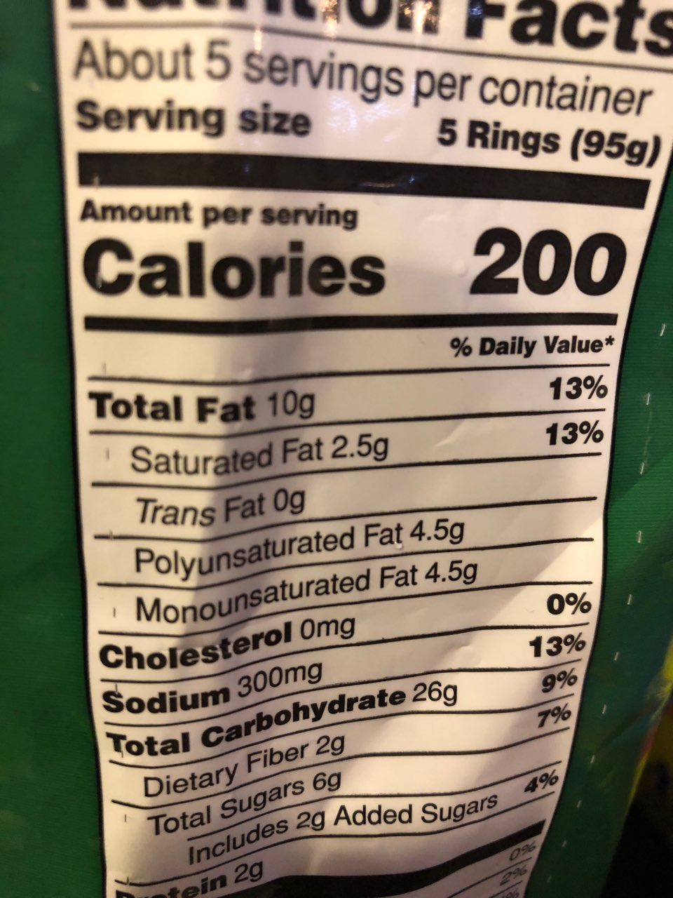 Nathan S Onion Rings Calories Nutrition Analysis More Fooducate