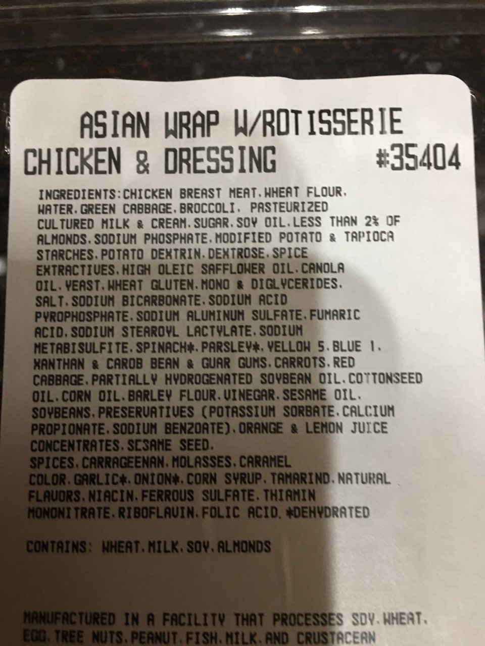 Asian Rotisserie Chicken & Dressing