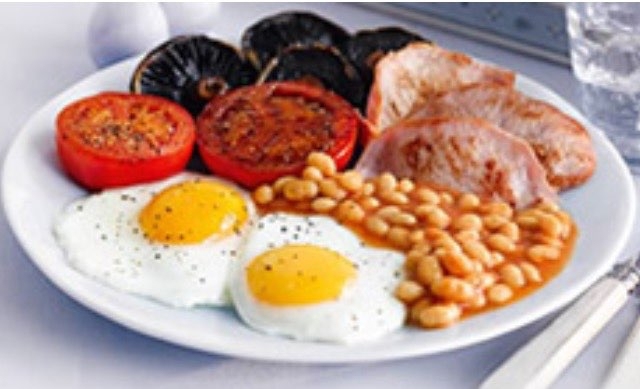 Full English Breakfast Directions Calories Nutrition