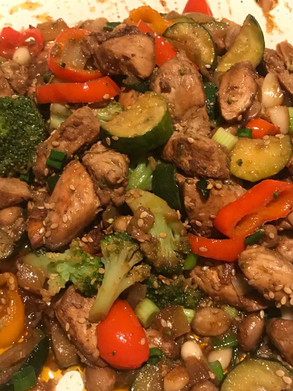 Calories in kung pao chicken