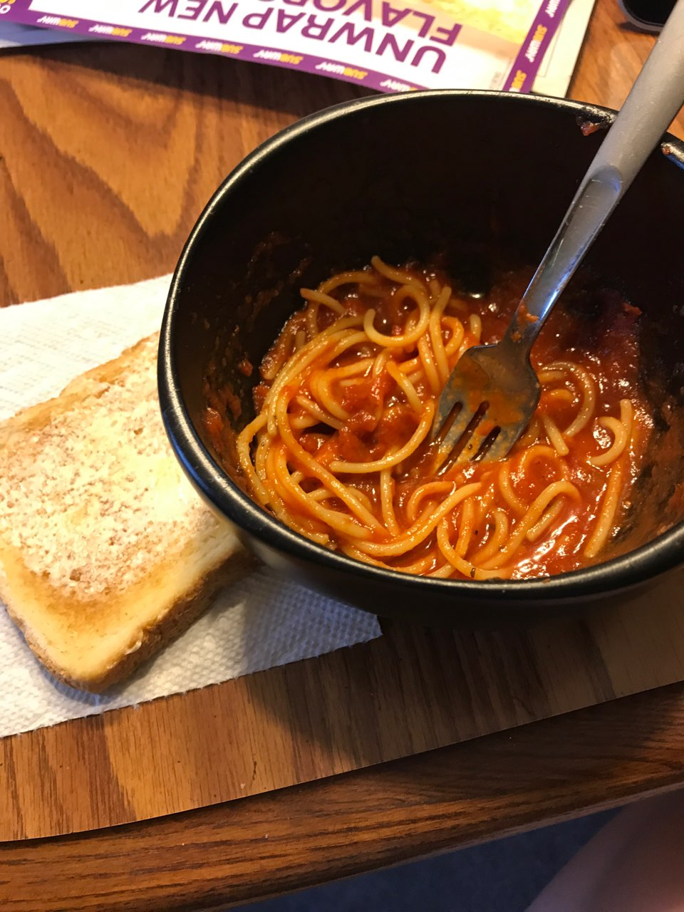 Spaghetti With Garlic Toast Directions Calories Nutrition More Fooducate
