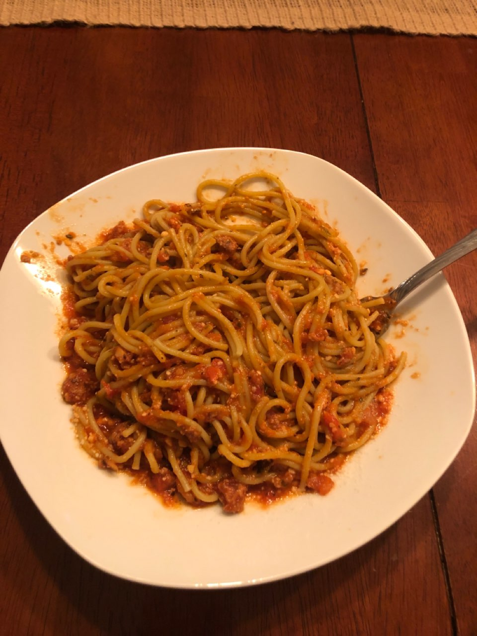 Turkey Spaghetti W Veggie Noodles Directions Calories Nutrition More Fooducate